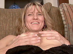 Shy Anilos blonde Berkley massages her moist pussy