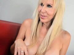 Erica drills her twat with her fingers and a sex toy and experiences intense pleasure