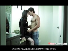 Incredibly sexy brunette babe Stoya loves ass play & rough-sex