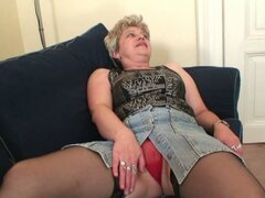 Horny granny has great threesome with husband...