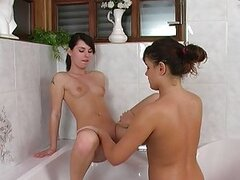 Two gorgeous young lesbian angels are left alone in the bathroom. What could be more exciting and intriguing? Enjoy Sonya and Alla in their hot and wet bathroom adventure that will fill the bath with their hot young bodies and lots of sweet sticky pussy j