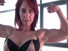 Redhead Andrea and MuscleBoy
