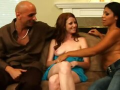 Funny how things work out. It was Vin's idea to do Wife Switch and his wife, Nikki who was most hesitant. But, once they were there Vin couldn't handle watching his wife with another man. Nikki on the other hand ended up having a blast getting the full at