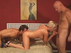 Butt fucking bisexual threesome video
