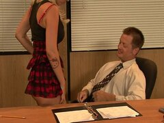 Hot Blonde Fucked In The Office