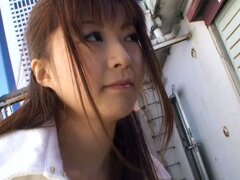Naïve Japanese girl wants to help and exposes her tits to a spy cam