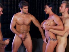 Jewels Jade gangbang with male pornstars