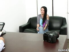 Heres a glimpse at Christy Mack early in her career. Watch as shes talked into doing her first scene for no pay, but instead the promise for help in furthering her career.