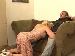 Heidi Mayne the sexy blonde MILF gets fucked by three guys
