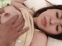 Charming Japanese fingered in her twat and fucked with a toy rod