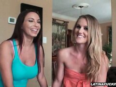 Latina Shares Her BF With Her Blonde Friend