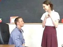 Cute Student Andrea Anderson Strips For her Teacher