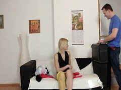 Hot blond teen Ruth sexed by big dick