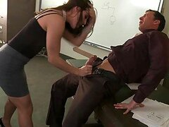 Gorgeous Office Slut Gracie Glam Gets Fucked and Covered In Thick Jizz