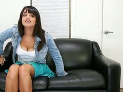 Superb Stacey Foxxx enjoys stripping her clothes in wild session of porn casting