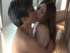 Sexy Japanese Jerking Off a Cock While Getting Fingered