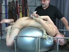 Kinky young lady loves being tied up