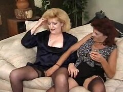 Hot Banging Grannies Kitty Foxx and Crimson Love