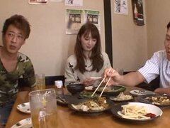 Kaede Fuyutsuk gets fucked by two men and enjoys it