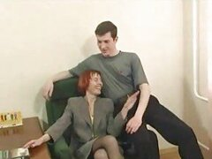 Mature redhead having hot anal sex