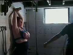 Submissive MILF Rusty Rhodes Gets Her Huge Jugs Tied Up and Tortured