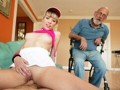 Nicole sluts up retirement home!