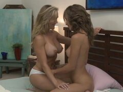 Tit and twat fun with  Malena Morgan and Brandi Love