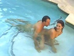 Naughty babe getting fucked in the swimming pool