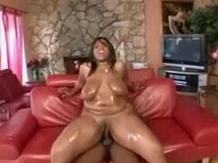 Big black titty wet Afro riding with  a phat ass
