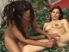 Pregnant lesbian plays with her girlfriend