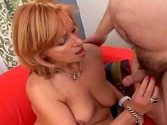 Grandfather and grandmother have some fun in the bedroom