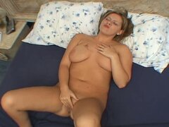 Short hair mature woman enjoying sex