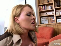 Timid but untamed milf provides dude with the nicest titjob he'd never dreamed of