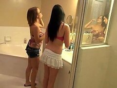 College Teens Have A Threesome With A Horny Guy