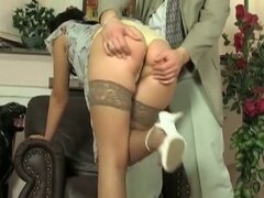 Brunette wife is blindfolded and banged