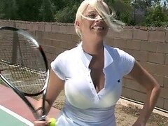 Hardcore Outdoors Sex With Busty Blonde Britney Amber On Tennis Court