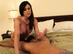The hot cougar rides that cock with passion on her way to find pure pleasure