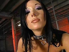 Nadia the Dominatrix babe gives the hottest blowjobs