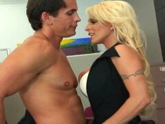 Holly Halston Busty Office MILF