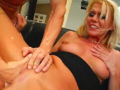 Judith likes fisting her tight vag