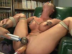 Brunette Machine Fucked In Office