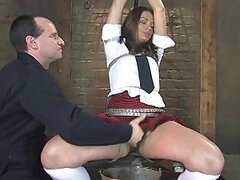 Dirty Schoolgirl Gets an Enema