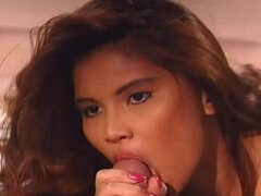 Sexy porn video of 80s with a horny brunette babe