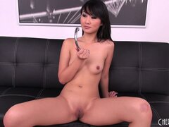 Evelyn Lin stops going solo when her big lover whips out his dick