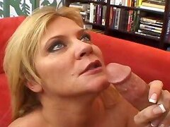 Horny blond mature lady seduces her son in law