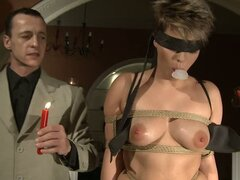 Immobile Woman Sucking Cock and Getting Fucked in BDSM Action Video