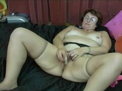 No Sound: Dildo Orgasm 62 years Granny Monique