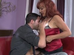 Sexy Vanessa the redhead mature babe gets fucked by younger guy