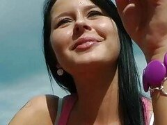 Pretty hot Czech girl pounded in public