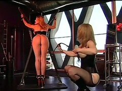 Hot Dominatrix Nina Hartley Humiliates Her Beautiful Lesbian Sex Slave